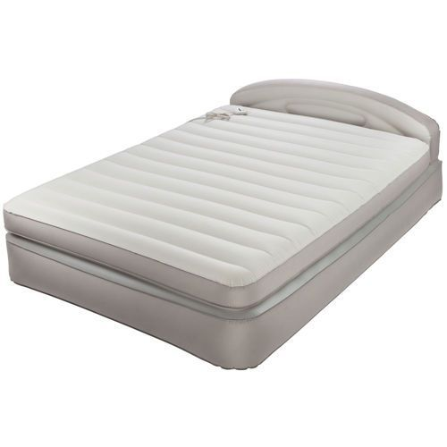Fantastic Aerobed With Headboard Aerobed Opti Comfort Queen Air Mattress With Headboard Camp Luftmatratze Matratze Kopfteil