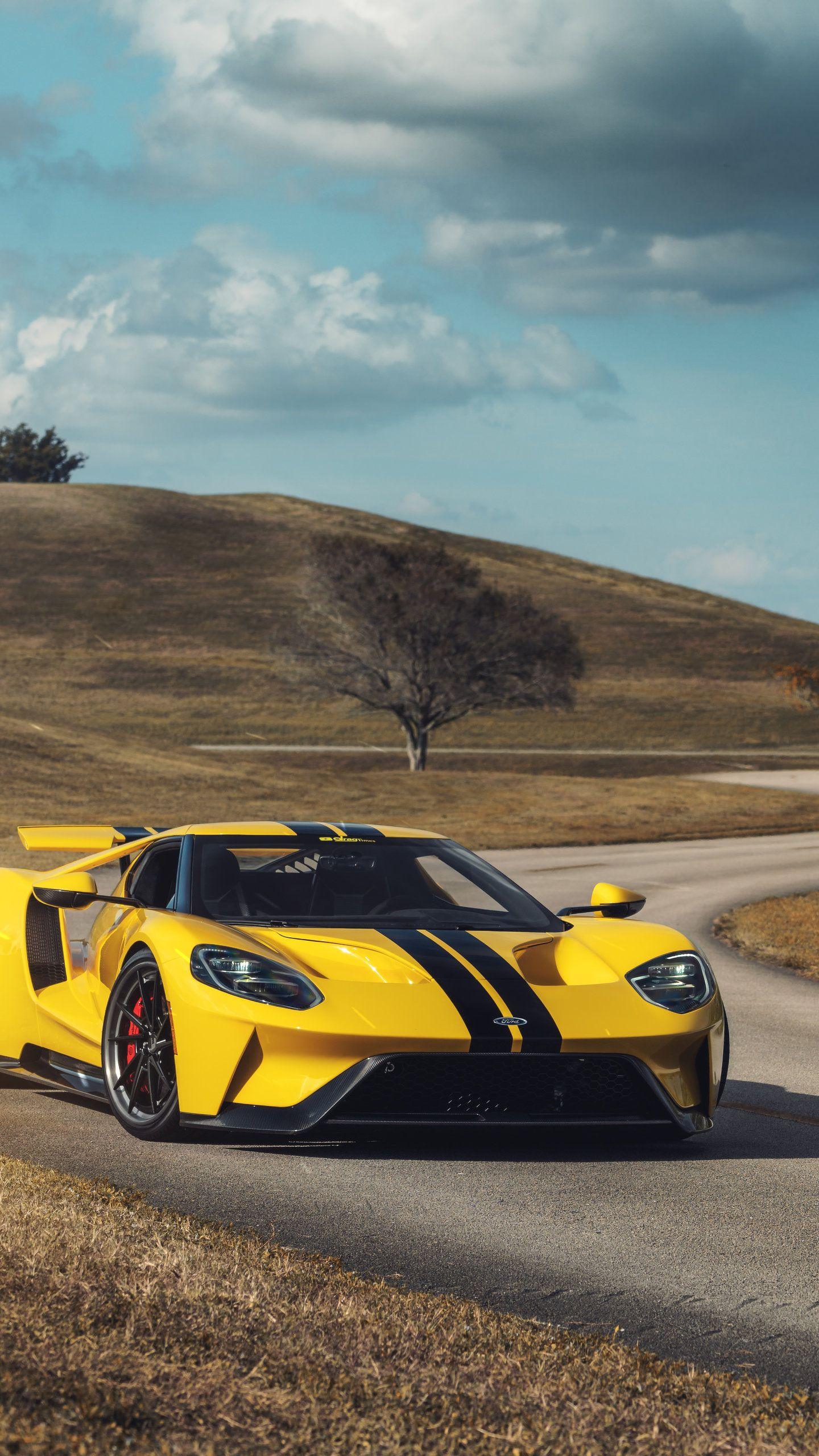 Yellow Ford GT 1 8K, HD Cars Wallpapers Photos and