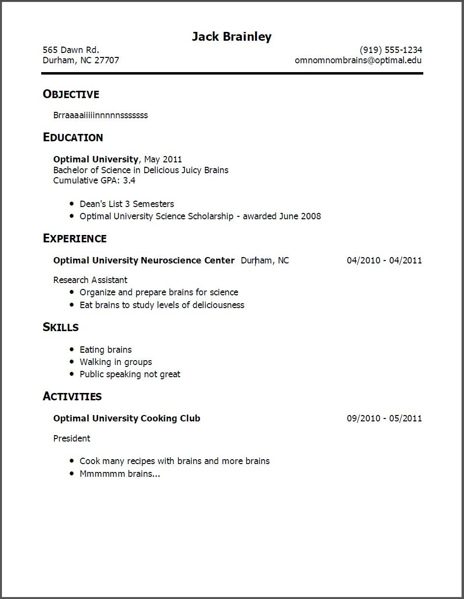 Resume Templates With No Work Experience New Resume Examples For Bpo Jobs  Resume Examples  Pinterest