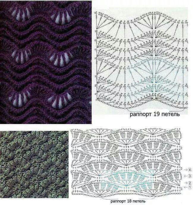 Pontos onda   projeto croche   Pinterest   Puntadas de ganchillo ...