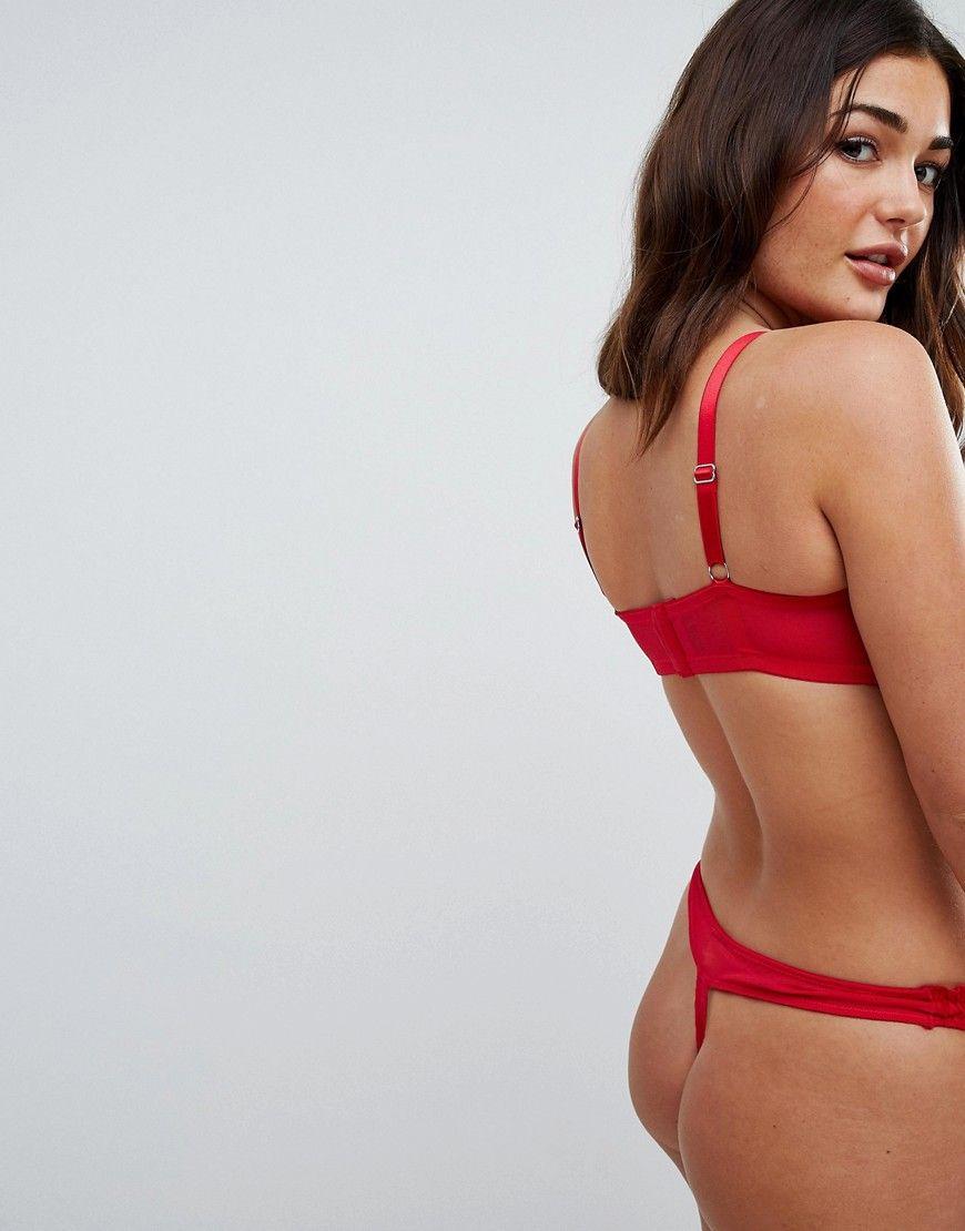 499e3f6727e5c Womens Fashion · ASOS FULLER BUST Paris Heart Mesh Underwire Bra - Red  Bikinis