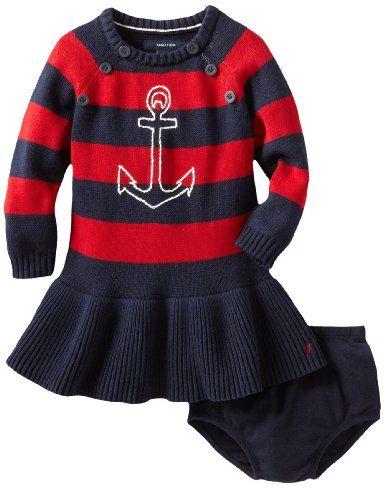 f2b426ffdf0e Amazon.com  Nautica Sportswear Kids Baby-girls Infant Long Sleeve ...