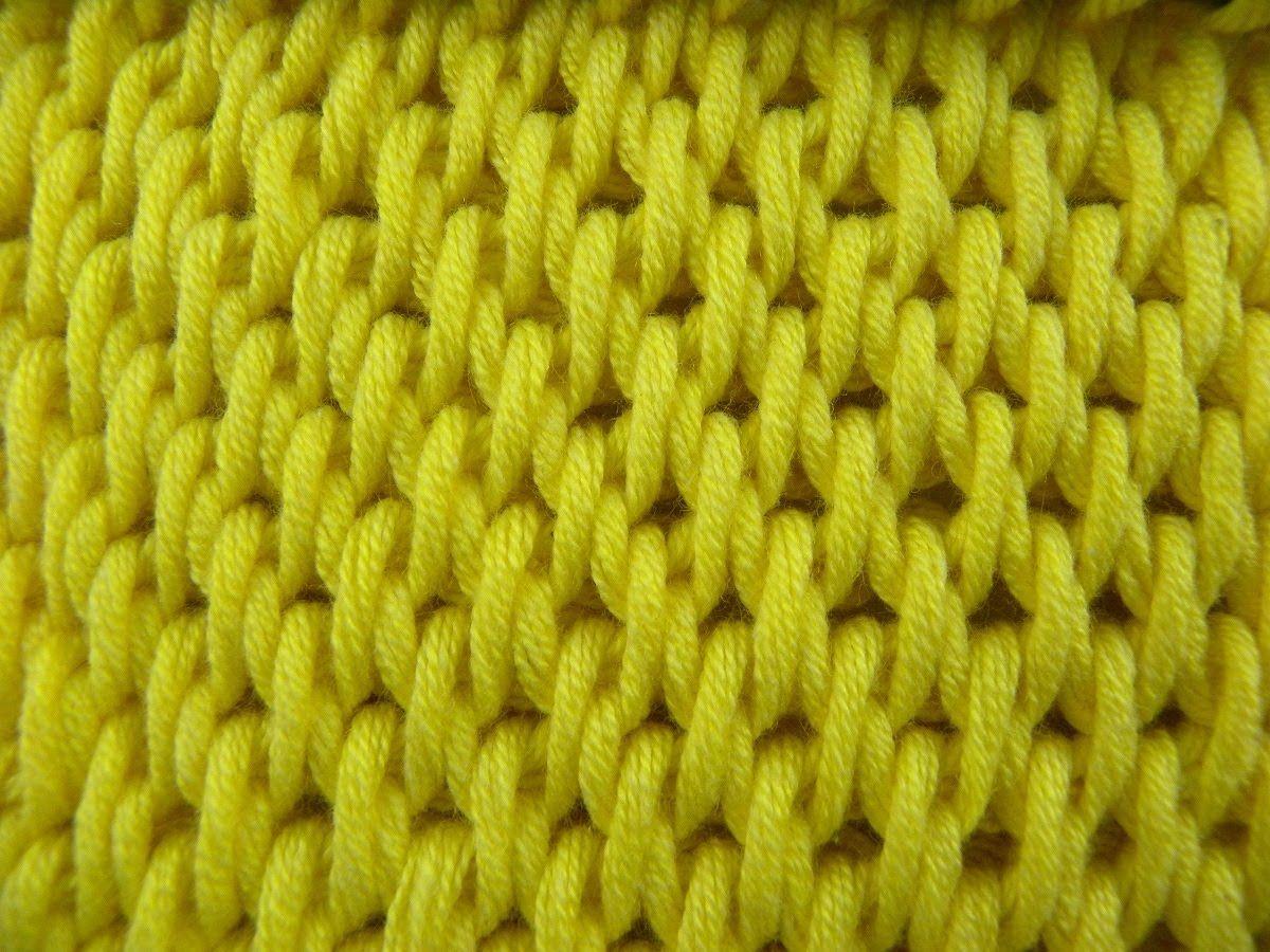 Tunesisch Häkeln - Füllstich einfarbig | Crochet | Pinterest ...