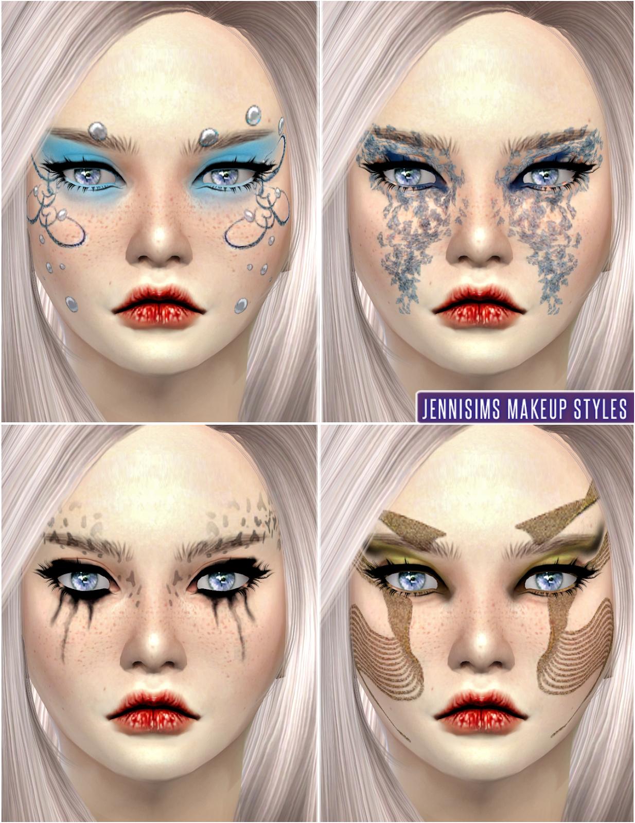 jennisims downloads sims 4 makeup so soft fantasy fairies eyeshadow