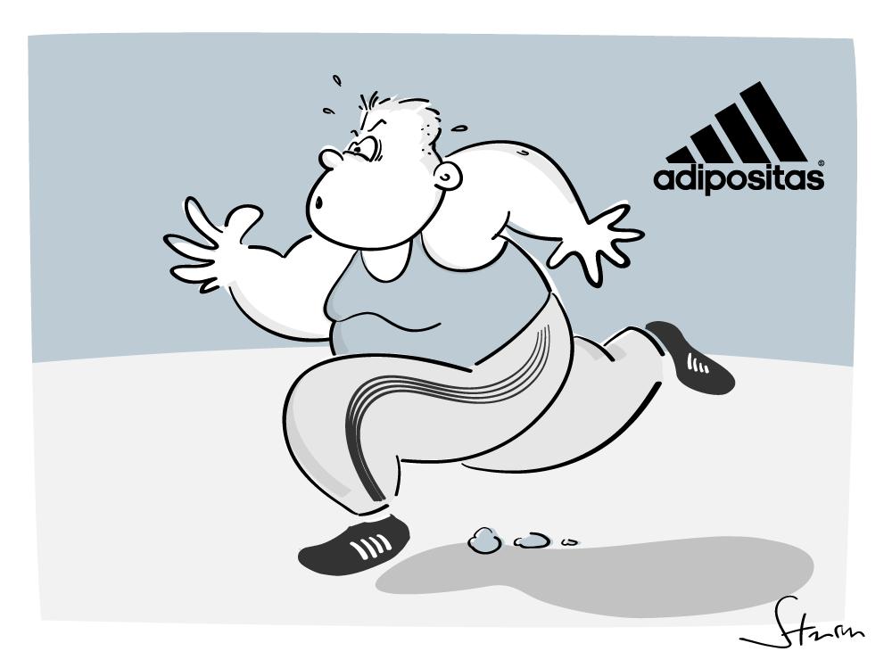 Strandkorb comic  http://www.philippsturm.de/portfolio/adipositas/ #fat #fastfood ...