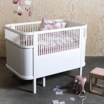Kindermöbel bett  Sebra Bett - Babybett / Kinderbett, oval, ausziehbar | günstig ...