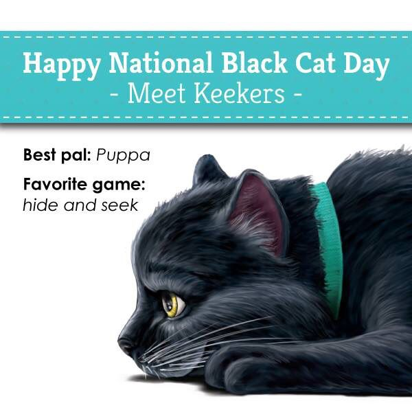 Keekers National Black Cat Day Black Cat Day Cat Day
