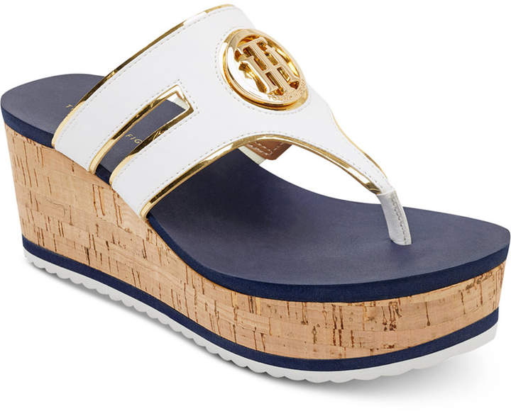fdc3309b159c Tommy Hilfiger Galley Thong Platform Wedge  Sandals  Women s  Shoes. Tommy  Hilfiger s Galley wedges add a hint of nautical appeal and vintage  inspiration to ...