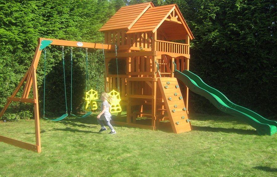Leisure Time Cedar Swing Set Highlander ~ http ...