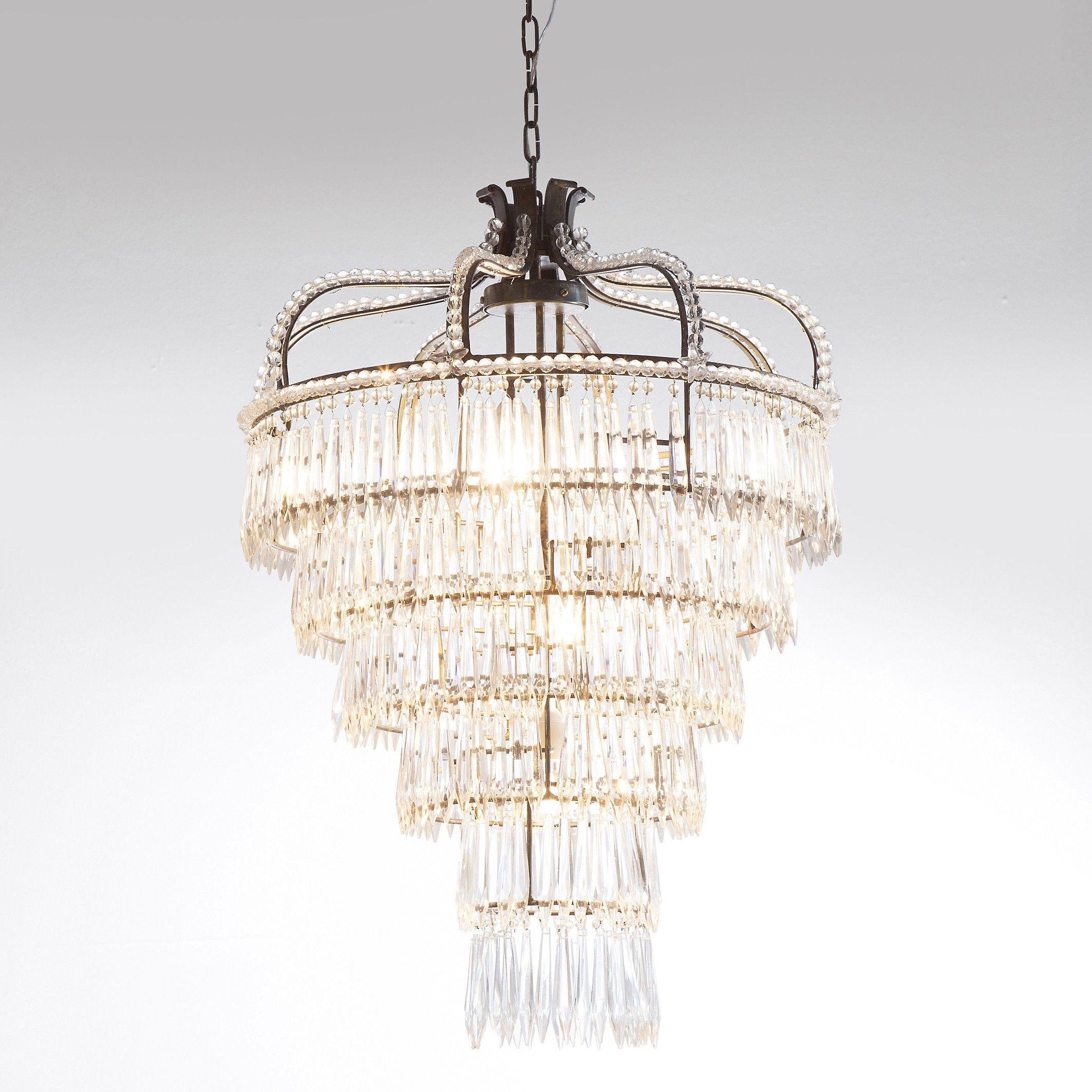 1920s Art Deco Fringe Chandelier Light Art Deco Chandelier Favorite Lighting Chandelier Lighting