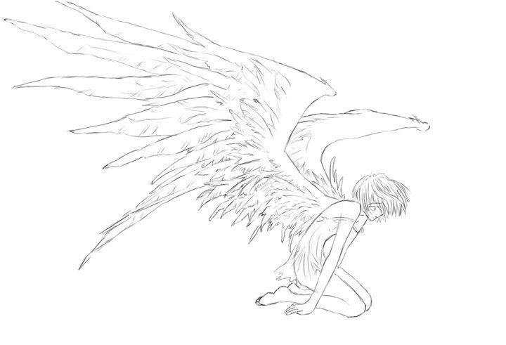 صور أنيمي بدون ألوان Anime Pictures Without Color Anime Fallen Angel Fallen Angel Coloring Pages