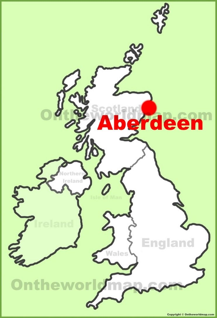 Aberdeen location on the UK Map Maps Pinterest City
