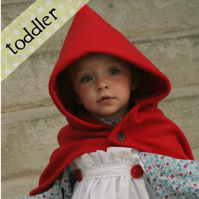 RTS size 18m - Toddler Fleece Little Red Riding Hood Cape/Costume - unique toddler halloween costume ideas