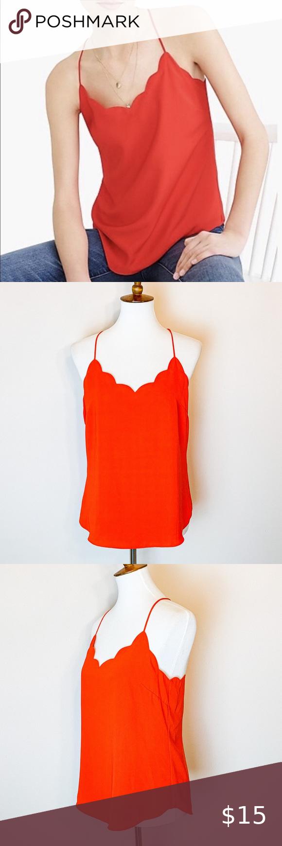 Womens Orange Drop Waist Scallop Trim Dress Victoria