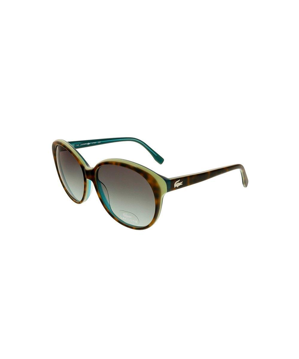 8560c4942fb9 LACOSTE L748S 220 Tortoise Green Round Sunglasses .  lacoste  sunglasses