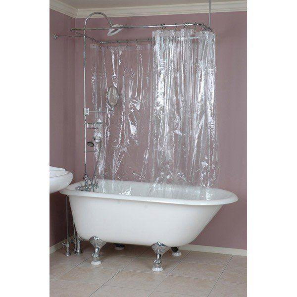 180 x70 shower curtain clawfoot tub