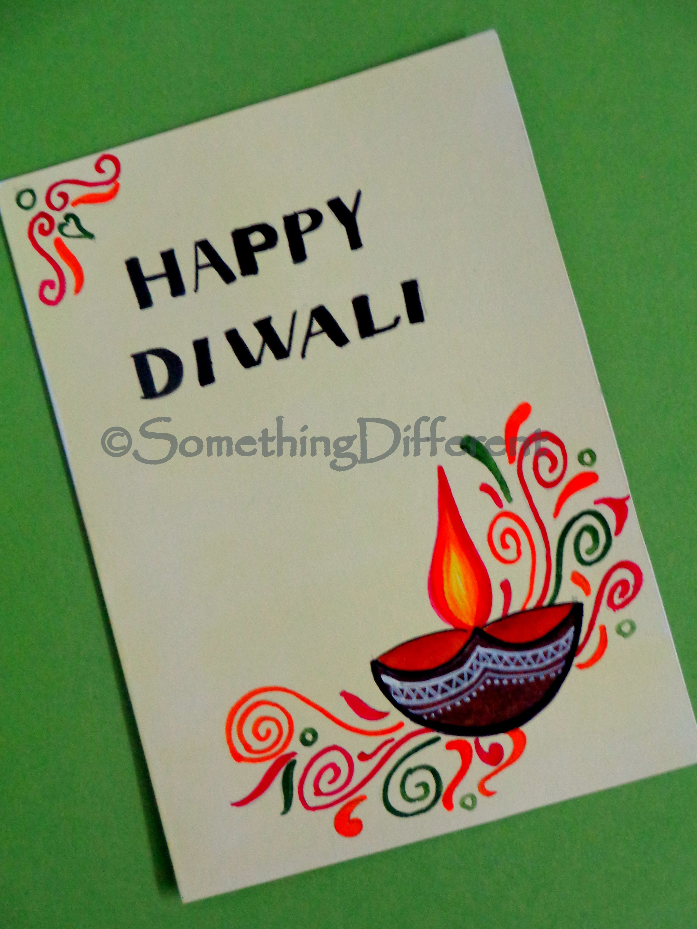 Diwali greeting card u crafts pinteu
