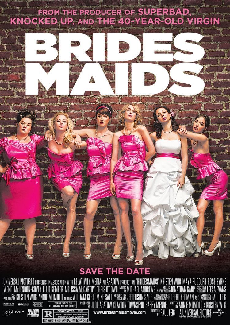 Brides Maids 2011 Bridesmaids Movie Bridesmaids Movie Poster Bridesmaids 2011