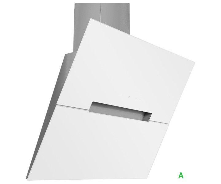 Moderne Kopffreihaube 60 cm mit weißer Glasfront und - moderne dunstabzugshauben küche