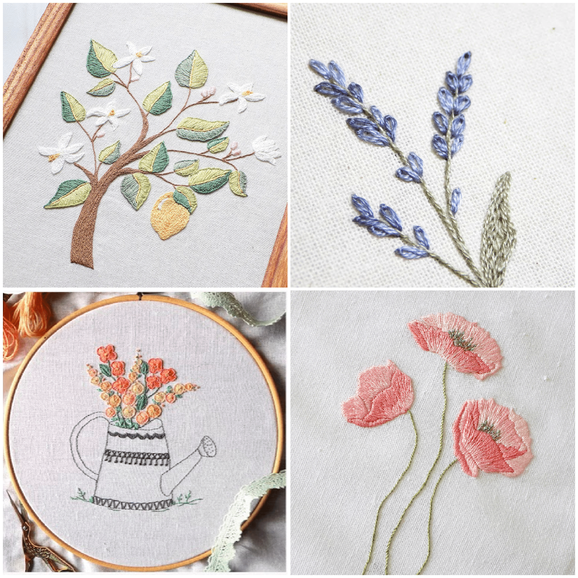 17 Sites with Fun and Free Hand Embroidery Patterns -  So many pretty floral embroidery patterns for free.  - #Embroidery #EmbroideryPatterns #Free #Fun #Hand #HandEmbroidery #HandEmbroideryPatterns #patterns #sites
