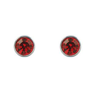 Created Ruby Anium Post Earrings