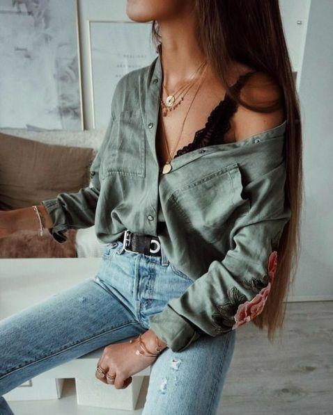 20 Edgy Fall Street Style 2018 Outfits zum Kopieren #womensfashion