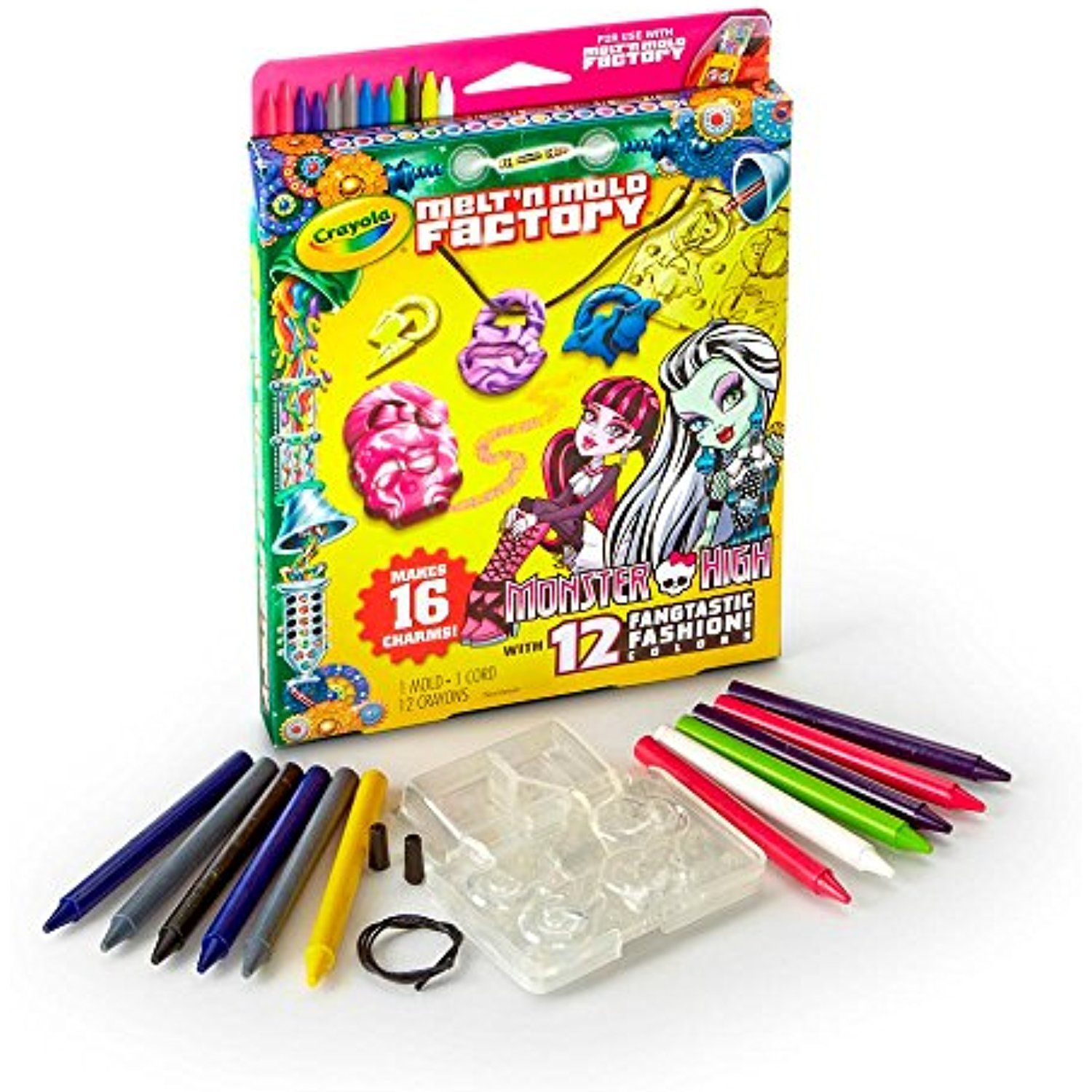 Crayola Melt N Mold Monster High Charms Expansion Pack Learn