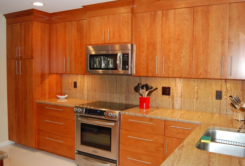 Modern Natural Cherry Kitchen Dutch Haus Custom Furniture Sarasota