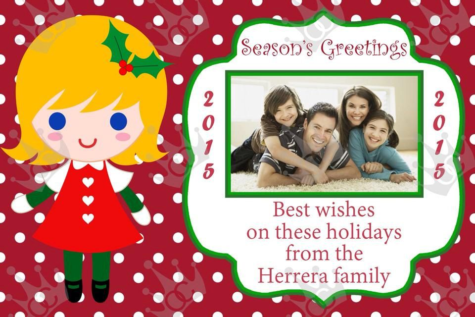 Christmas Card Template, DIY/Print from home or email them by - greeting card template