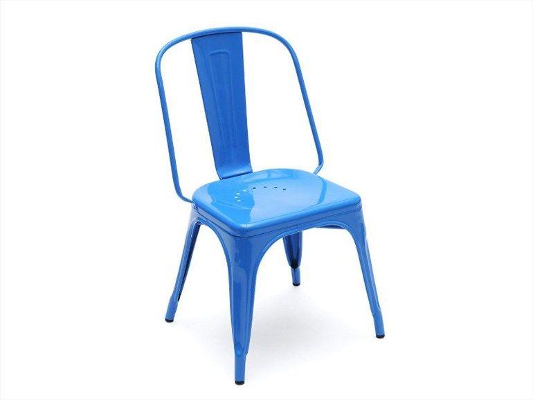 Ac Metal Chair By Tolix Design Xavier Pauchard Metal Chairs