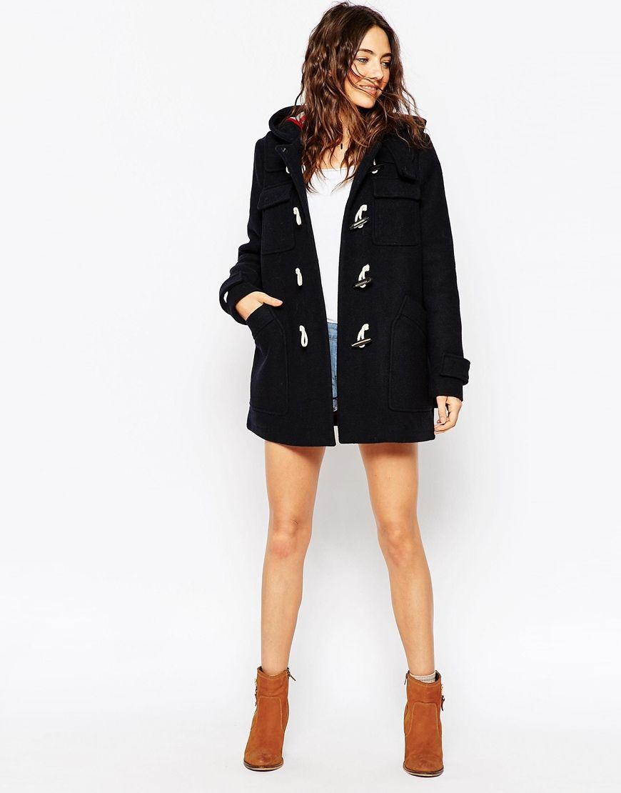 Pin By Yingkwang P On Street Style Winter Duffle Coat Coat Asos Petite [ 1110 x 870 Pixel ]