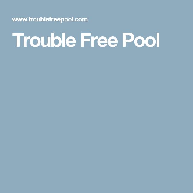 Trouble Free Pool Chlorine CYA Chart