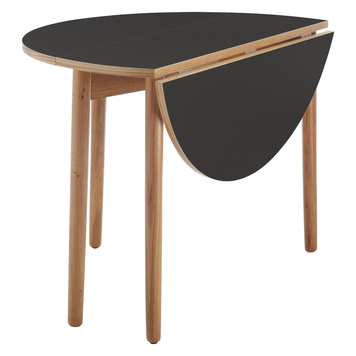 Elegant SUKI 2 4 Seat Black Folding Round Dining Table