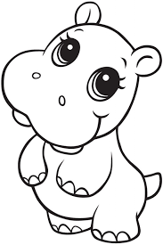 Image result for hippo line drawing sis tat pinterest for Baby hippo coloring pages