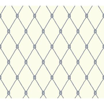 "Nautical Living Knot 27' x 27"" Trellis Wallpaper"