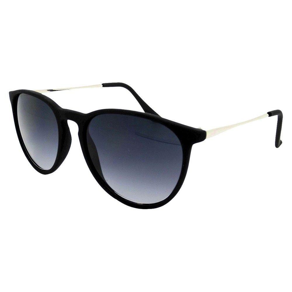 081f03310c Women s Rubberized Round Sunglasses - Black