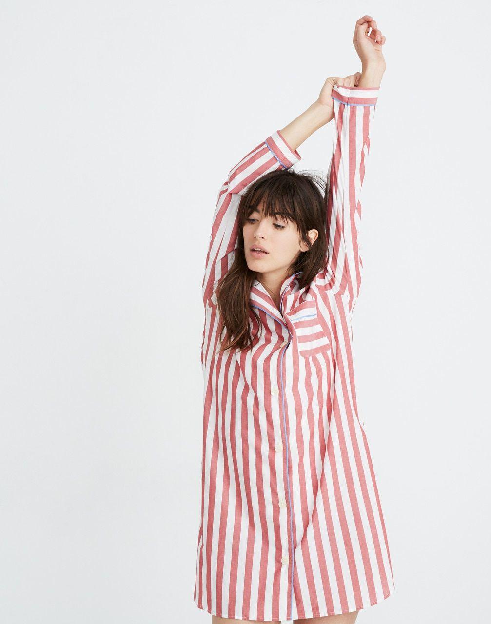 9bcd20cc1683 Bedtime Nightshirt in Pierre Stripe