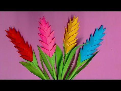 Flor de papel origami flor papiroflexia flores - Youtube manualidades de papel ...