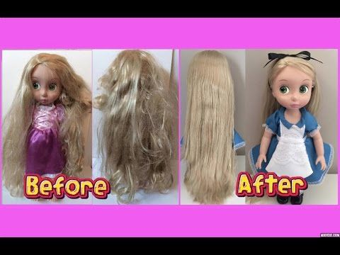 how to fix doll hair restore tangled frizzy messy doll hair youtube video mini tutorials. Black Bedroom Furniture Sets. Home Design Ideas
