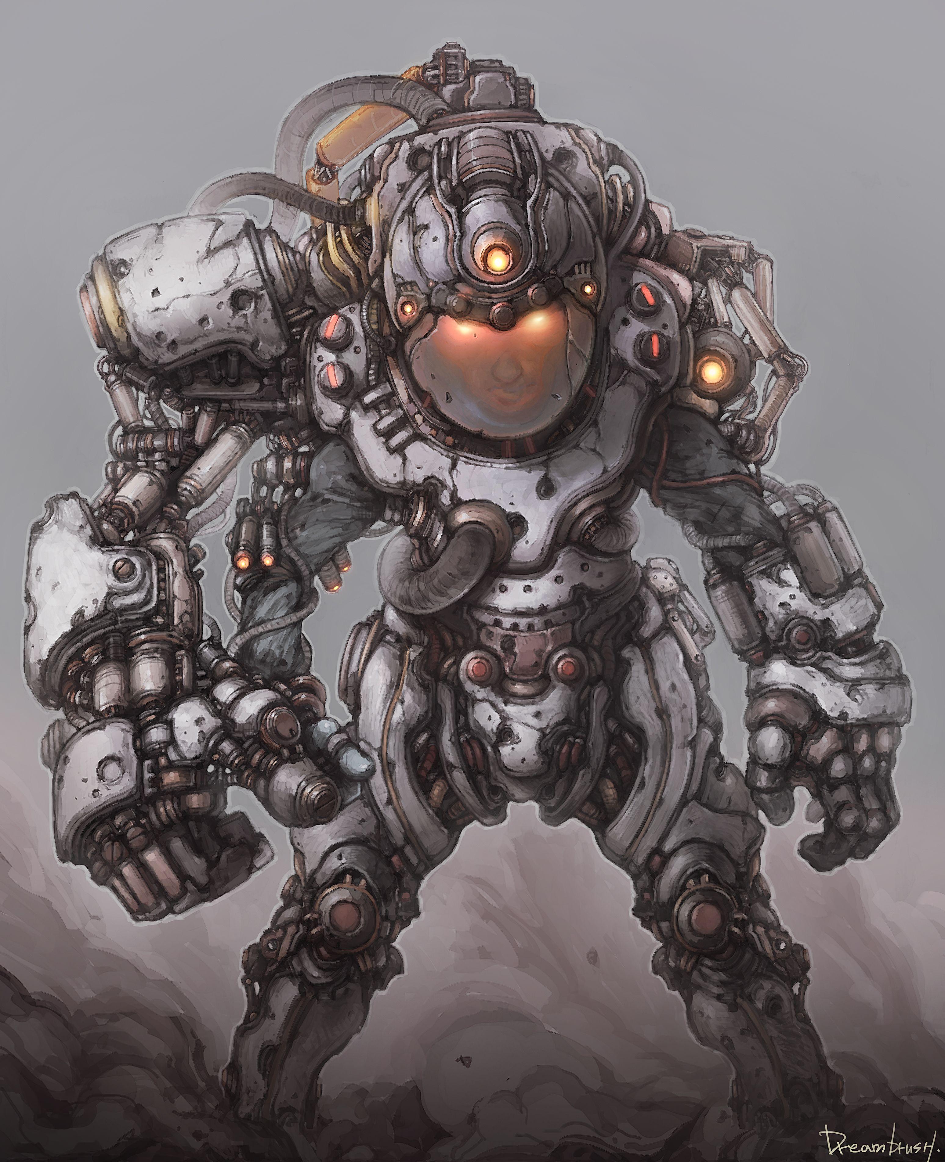 War Boy Robot Concept Art Robot Design Concept Art Characters