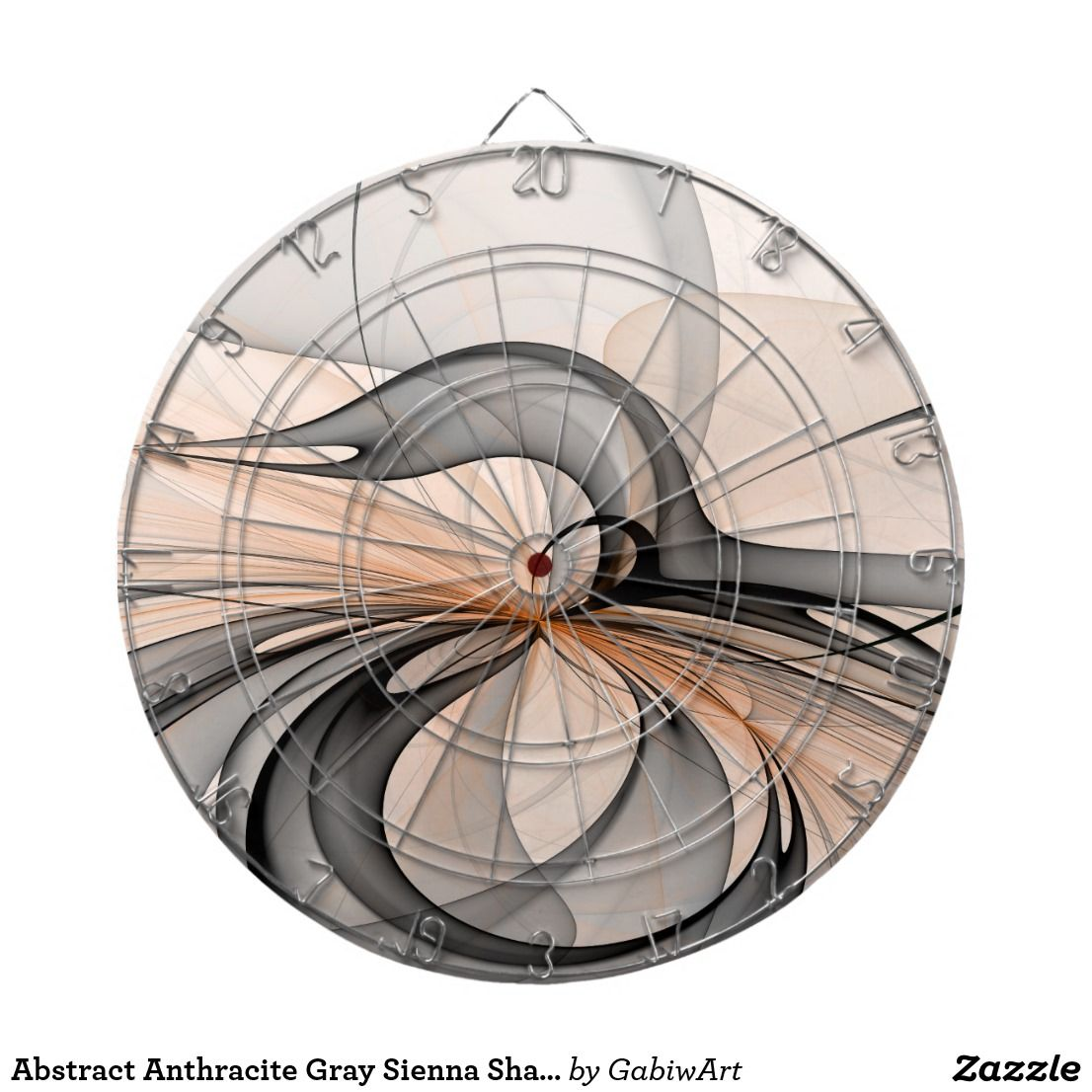 Abstract Anthracite Gray Sienna Modern Fractal Art Dart Board Zazzle Com