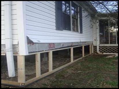 Metal Mobile Home Skirting Framework Installation