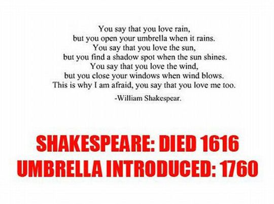 William Shakespeare Was A Visionary Funny Quotes Pointless Facts Everything Funny