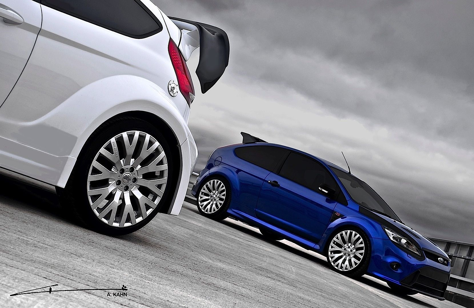 Kahn Ford Focus Rs And Fiesta St With Cosworth Wheels Released Ford Focus Rs Ford Focus Focus Rs