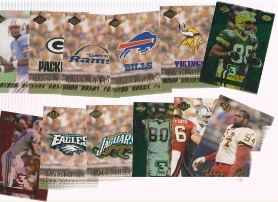 OVER 100 COLLECTORS EDGE FOOTBALL CARDS