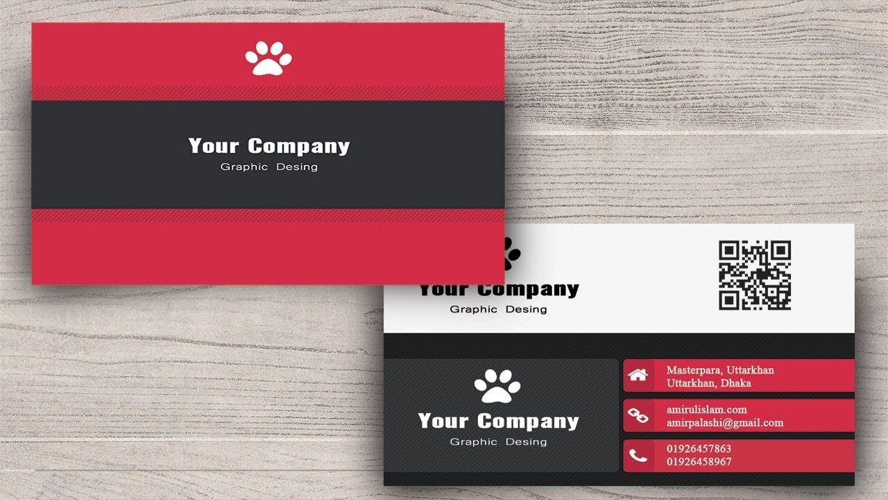 Photoshop Tutorials : How to Create Business Card in Photoshop Part ...