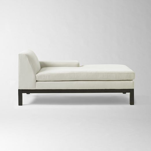 Here S A Chaise From West Elm That Could Be Used For Lounging For One Me Or Regular Dining Seating For Two Small Space Living Room Chaise Bedroom Seating