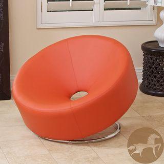 christopher knight home modern round orange accent chair boy s