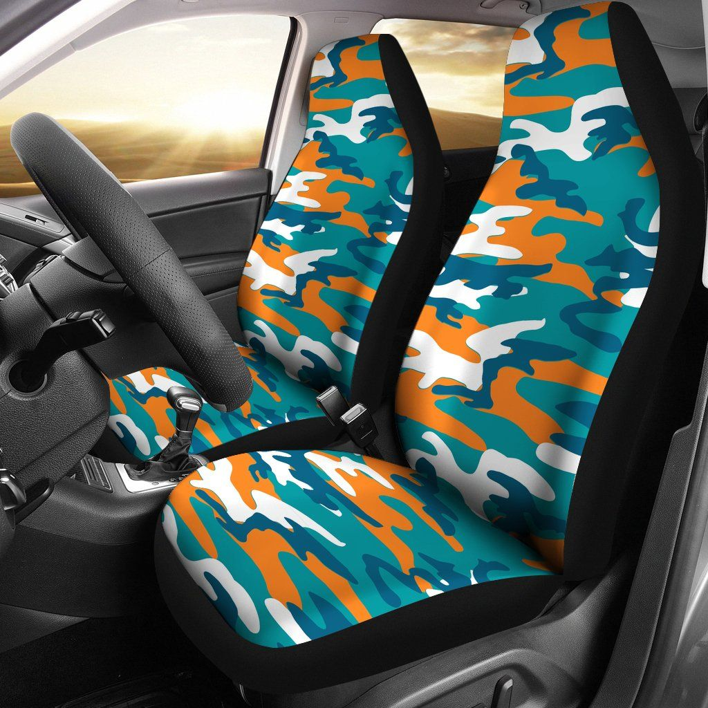 Miami Dolphins Inspired Camo Car Seatcovers Miami Dolphins