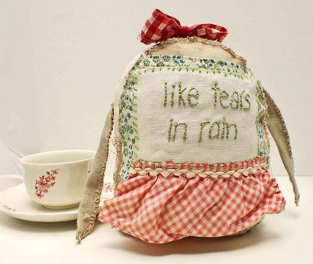 lovely recycled vintage fabric softie